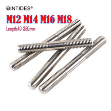 Isometric Bolts Double-Head M12 Studs Clamping-Type M16 304-Stainless-Steel M14 M18 QINTIDES