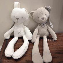 Long ear rabbit doll baby sleep pacify doll plush toy pacify rabbit little white rabbit little bow bear