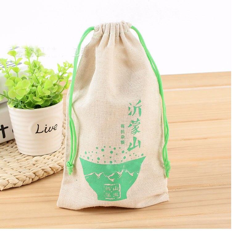 Personalized Logo Linen Gift Bag 9x12cm (3 4/8