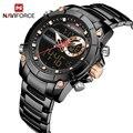 Новинка  мужские часы NAVIFORCE  топ класса люкс  брендовые часы  кварцевые полностью стальной ремешок  многофункциональные наручные часы  мужск...