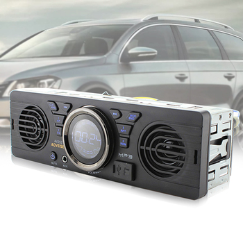 Hot Audio Player In Dash Accessories LCD Display Bluetooth MP3 Vehicle FM Car Radio Auto Multimedia Stereo 2 Speaker Electronics