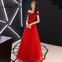 Evening Dress 2019 Beadings Tulle Sexy Formal Party Gowns Long Dresses
