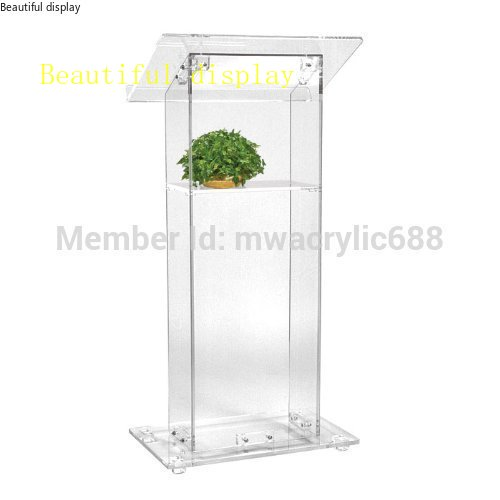 Pulpit FurnitureFree Shipping High Sell Cheap Clear Acrylic Lectern,acrylic Podiumacrylic Pulpit Plexiglass