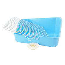 Pet Toilet Pet Potty Trainer Sturdy Indoor Toilet Pet Training Toilet for Rabbit Squirrel Guinea Pig (Sky-blue)(China)