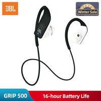 Original jbl grip 500 hands-free sem fio fones de ouvido bluetooth esporte fone de ouvido chamada com microfone música fone de ouvido à prova de suor