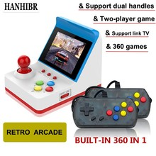 купить HANHIBR retro mini arcade handheld double game console 8-bit game console built-in 360 classic video game console Kids Gift Toy по цене 1640.65 рублей