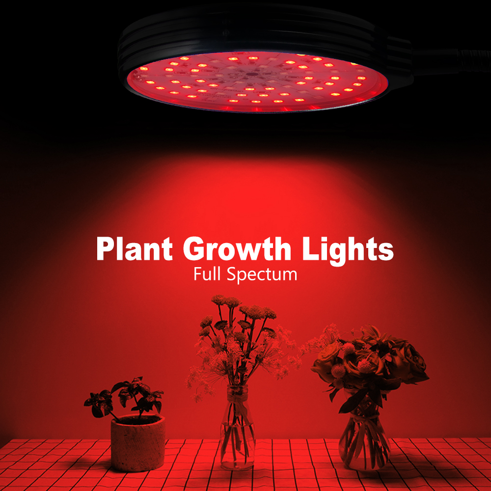 LED Plant Grow Light Bulb Withe Light USB DC 5V Room Red Blue UV IR Adjustable 3-Head Timer Plant Lights Green House Grow Tent