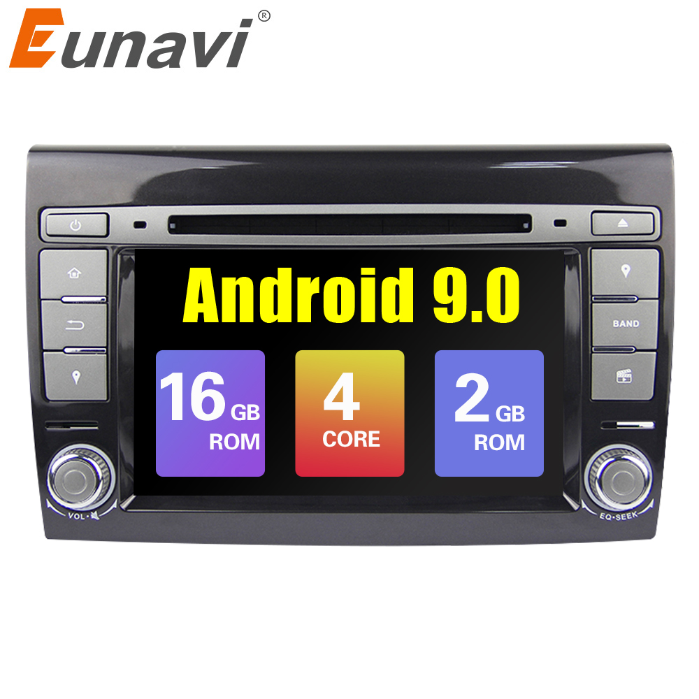 Eunavi 2 Din Android 9 Auto Multimedia-player Für Fiat/Bravo 2007 2008 2009 2010 2011 2012 DVD Automotivo GPS Radio 2 GB RAM WIFI