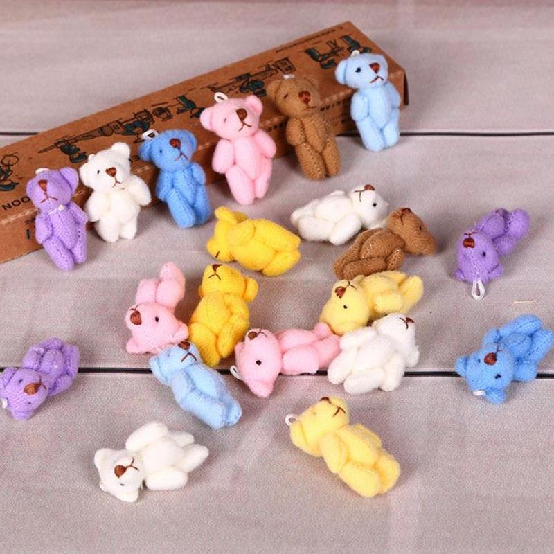 10 шт./партия Kawaii Mini 3,5 см животное медведь плюшевые куклы мягкие игрушки животные детские игрушки для детей подарки на день рождения