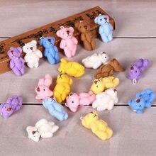 10 Pçs/set Kawaii Mini 3.5 centímetros Urso Animal de Pelúcia Bonecas de Pelúcia Brinquedos Animal Brinquedos para As Crianças Presentes de Aniversário Dos Miúdos