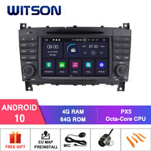 Witson android 10.0 ips tela hd para MERCEDES-BENZ c classe carro dvd 4gb ram + 64gb flash