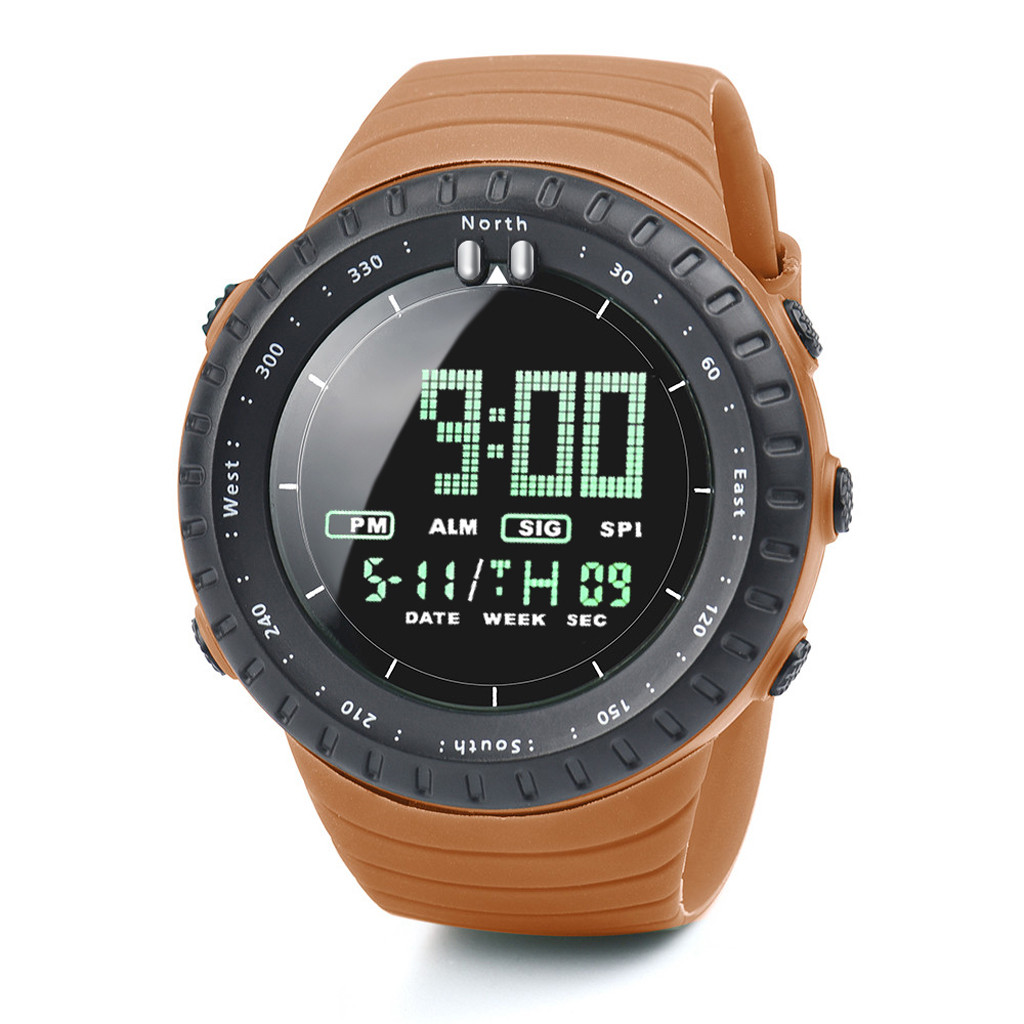 Мужские спортивные часы 2020, роскошные брендовые аналоговые цифровые светодиодные часы, мужские электронные часы, мужские военные спортивн...