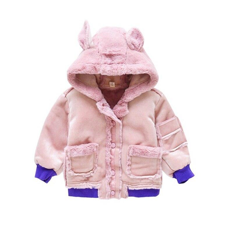 CROAL CHERIE Cute Dogs Kids Girls Jackets Baby Girls Fur Coat Children Winter Outerwear & Coats Thicken FLeece Girls Clothes  (4)