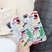 Cartoon Cute Vintage Crayon Shin-chan phone case For iphone Xs MAX XR X 6 6s 7 8 plus Fun pattern couple silicon back Cover Capa цена и фото