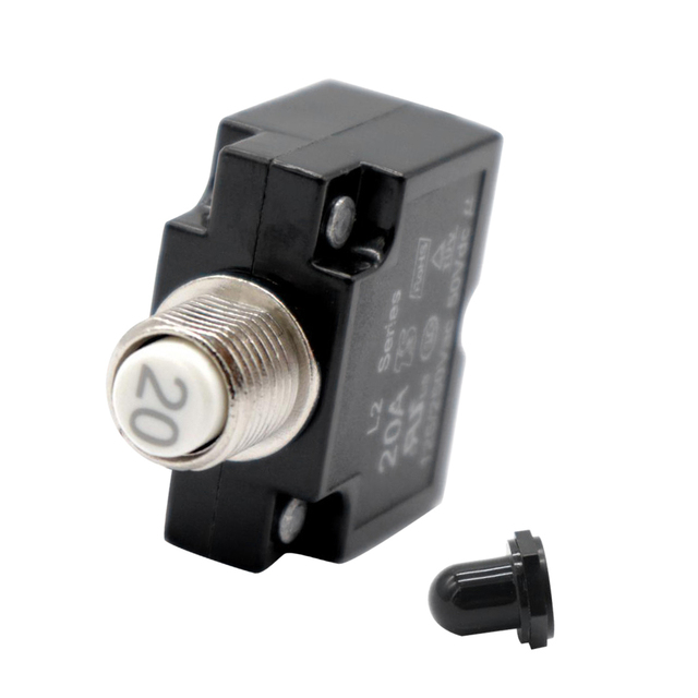 Universal Marine Boat Car Push Button Resettable Circuit Breaker (20AMP)