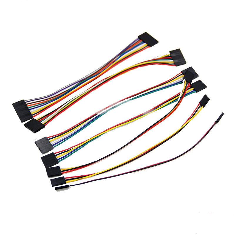 5pcs Dupont Line Dupont Wire Cable Female 2.54mm Pin Header Connector 20cm Single / Double Head 1/2/3/4/5/6/7/8/9/10p