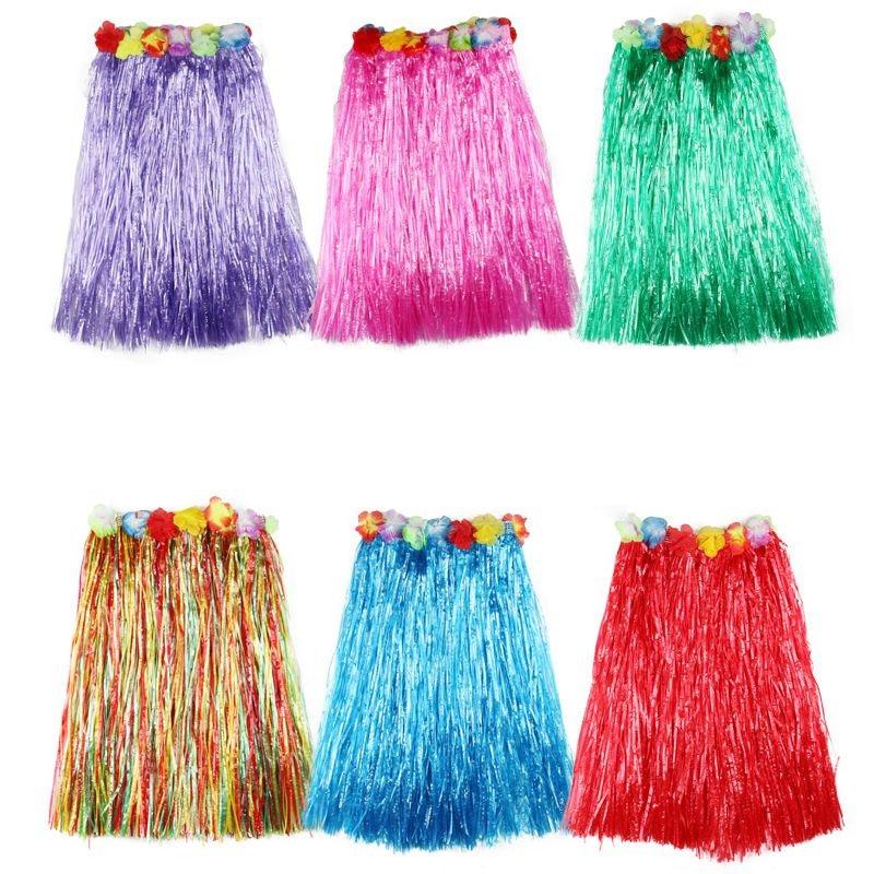 Plastic Fibers Girl Grass Skirts Hula Skirt Hawaiian Costumes Ladies Dress Up Festive & Party Supplies Cosplay Drees 40