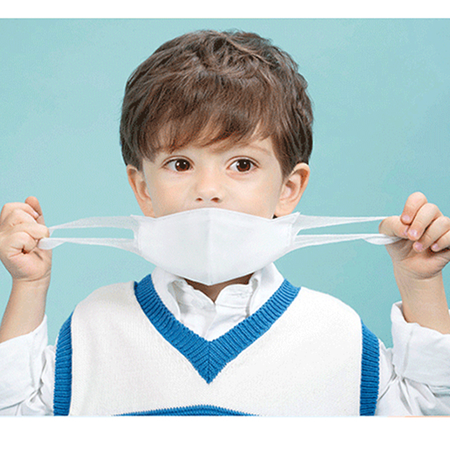 Disposable Children Kid Masks 3-layer Non Woven 3D Breathable Adult Mouth Mask Respirator mascarillas Mouth muffle Health Care 2