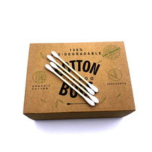 1000pc Double Head Cotton Swab Bamboo Cotton Swab Wood Sticks Disposable Buds Cotton For Beauty Makeup Nose Ears Cleaning Tools