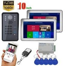 10 inch 2 Monitors Wireless Wifi RFID Password Video Door Ph