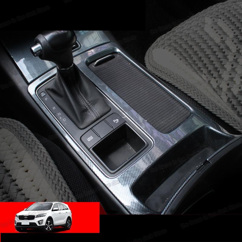 Lsrtw2017 Abs Car Gear Panel Cover Cup Frame Trims For Kia Sorento Prime 2015 2016 2017 2018 2019 2020 Um Auto Accessories