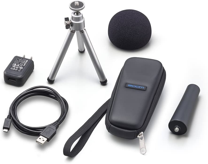 Zoom APH-1N Accessory Pack For H1n Portable Recorder, Includes Foam Windscreen, USB AC Adapter, Micro USB Cable, Adjustable Trip