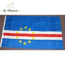 Bandeira de cabo verde 2ft * 3ft (60*90cm) 3ft * 5ft (90*150cm) tamanho decorações de natal para bandeira de casa