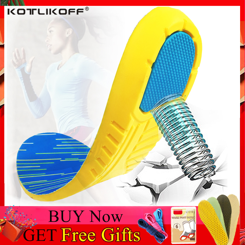 KOTLIKOFF Sports Insoles Soles For Shoes School Insole Plantar Fasciitis Foot Massage Shoe Sole Pads Inserts Shoes Accessories