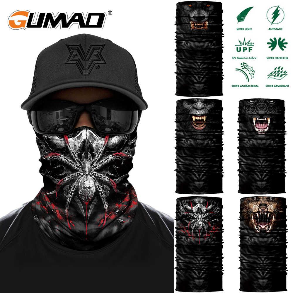 Araignée dinosaure gorille Tube écharpe cou guêtre 3D imprimé Bandana cyclisme randonnée vélo hommes femmes demi visage couverture masque bandeau