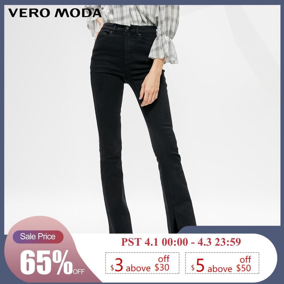 Vero Moda Women's Slightly Flared Washed Split Jeans | 319332513