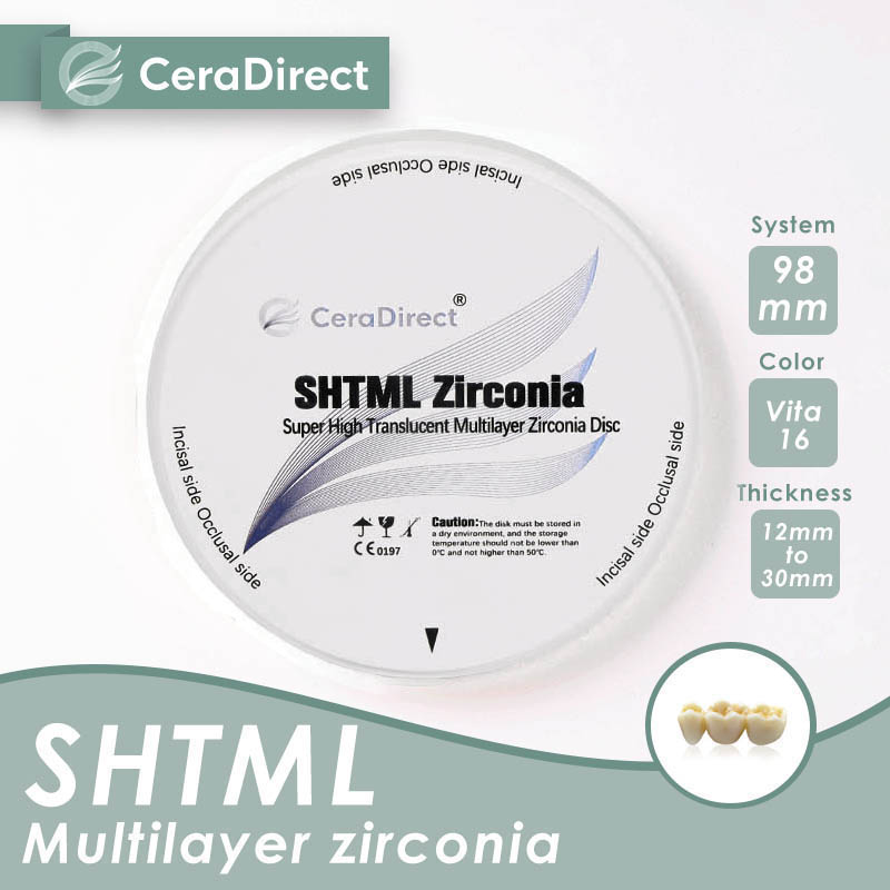 Ceradirect SHT-ML multilayer zirconia 98mm thickness 14mm