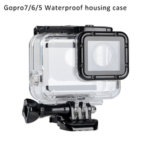 Go pro Accessories Dustproof Waterproof Gopro7/6/5 Protection Housing Case for GoProHero7/6/5 Removable Lens Cover