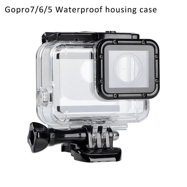 Go pro ملحقات مقاوم للغبار مقاوم للماء Gopro7/6/5 حماية الإسكان الحال بالنسبة GoProHero7/6/5 غطاء للعدسات القابلة للإزالة