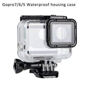 Image 1 - ゴープロアクセサリー防塵防水 Gopro7/6/5 保護ハウジングケースのため GoProHero7/6/5 リムーバブルレンズカバー