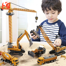 Car Truck Toys for Boys 1:55 Alloy Engineering Xmas Birthday Gifts Bulldozer Excavator Forklift Vehicles Kids Education Toys
