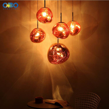 Vintage Gold/Silver Plated Glass Shade Pendant Lamp Cord 1-1.5m Wire Modern Shop/Bar/Hall Pendant Light E27 110*240V цена 2017