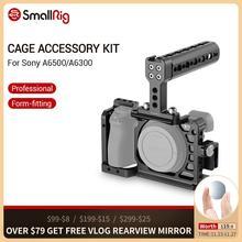 SmallRig ochronna klatka na kamerę a6500 z górnym uchwytem + zacisk kablowy HDMI dla Sony A6500/A6300 Dslr Cage Rig Set 1968