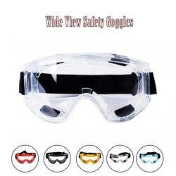 Şeffaf koruyucu gözlük güvenlik gözlükleri Anti-Splash rüzgar geçirmez iş güvenliği gözlükleri endüstriyel araştırma bisiklet sürme