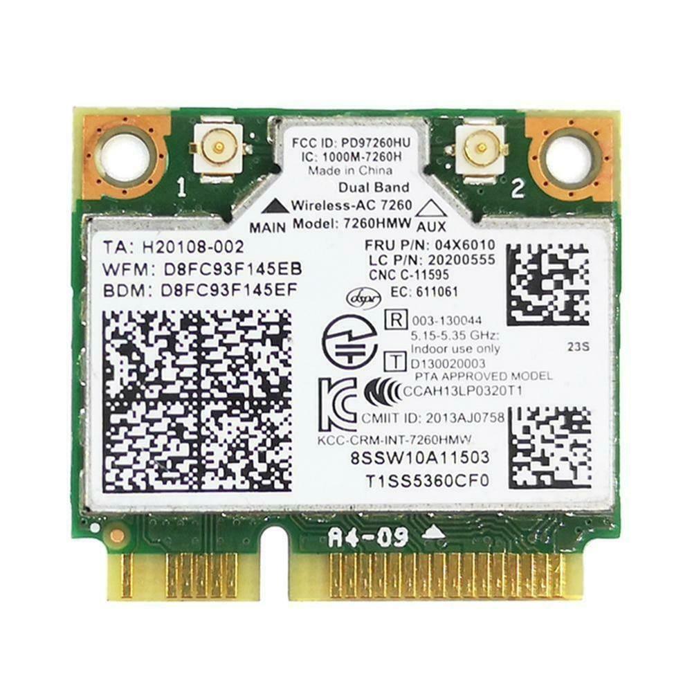 Para lenovo thinkpad para intel 7260 ac banda dupla wifi + bluetooth 4.0 wlan cartão 04x6010