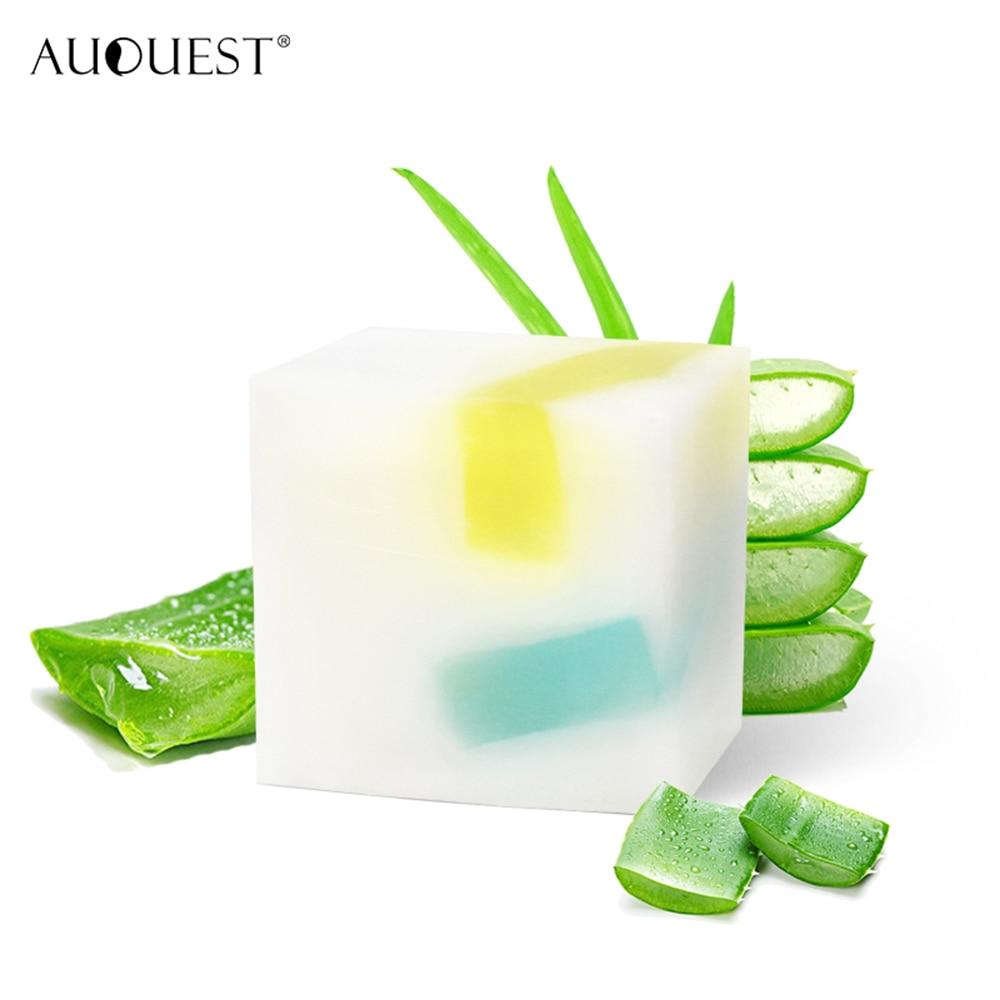 Organic Natural Aloe Vera, Essential Oil Handmade Soap Daily Cleansing Facial Skin Lightening Soaps Soap Bar TSLM1