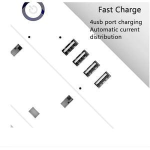 Image 4 - Wifi tira de energia inteligente protetor contra surtos 4 vias tomadas uk tomada elétrica usb homekit controle remoto por alexa google casa