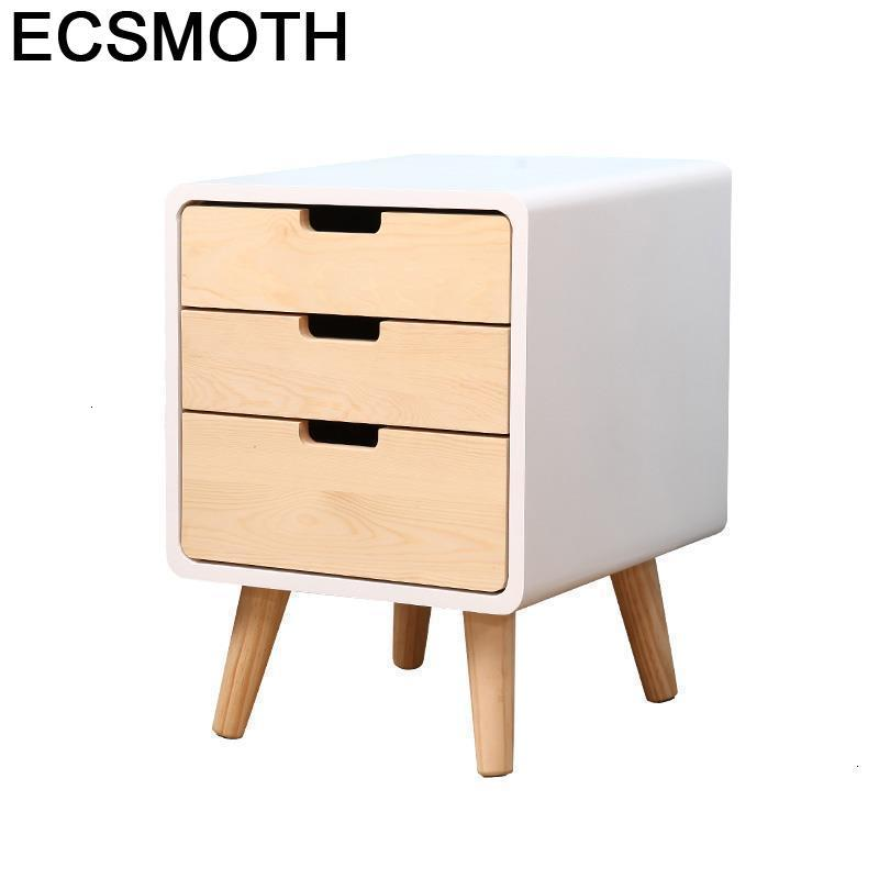Mesa Noche Veladores Slaapkamer Nordic European Retro Wooden Mueble De Dormitorio Quarto Bedroom Furniture Cabinet Bedside Table