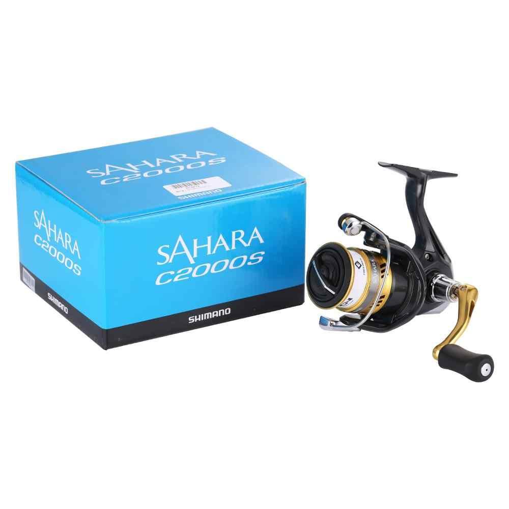 Shimano Originele Sahara Fi C2000HGS 2500HGS C2000S Spinning Vissen Reel 5BB X-Schip Saltewater Ondiepe Spool Reel Fishing Tackle