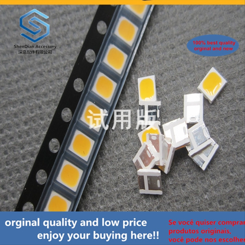 50pcs 100% Orginal New Best Quality LED Lamp Beads 2835 Warm White 3000K Color Temperature 0.2W 3V-3.3V 60mA FM-P3528WLS