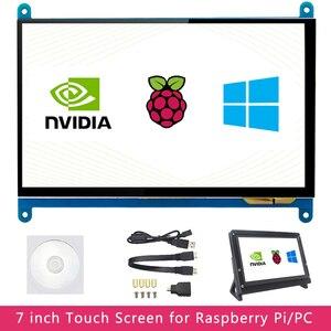 7 inch Raspberry Pi 4 Model B 3B LCD Display Touch Screen 1024*600 800*480 HDMI TFT Optional Holder for Nvidia Jetson Nano PC(China)