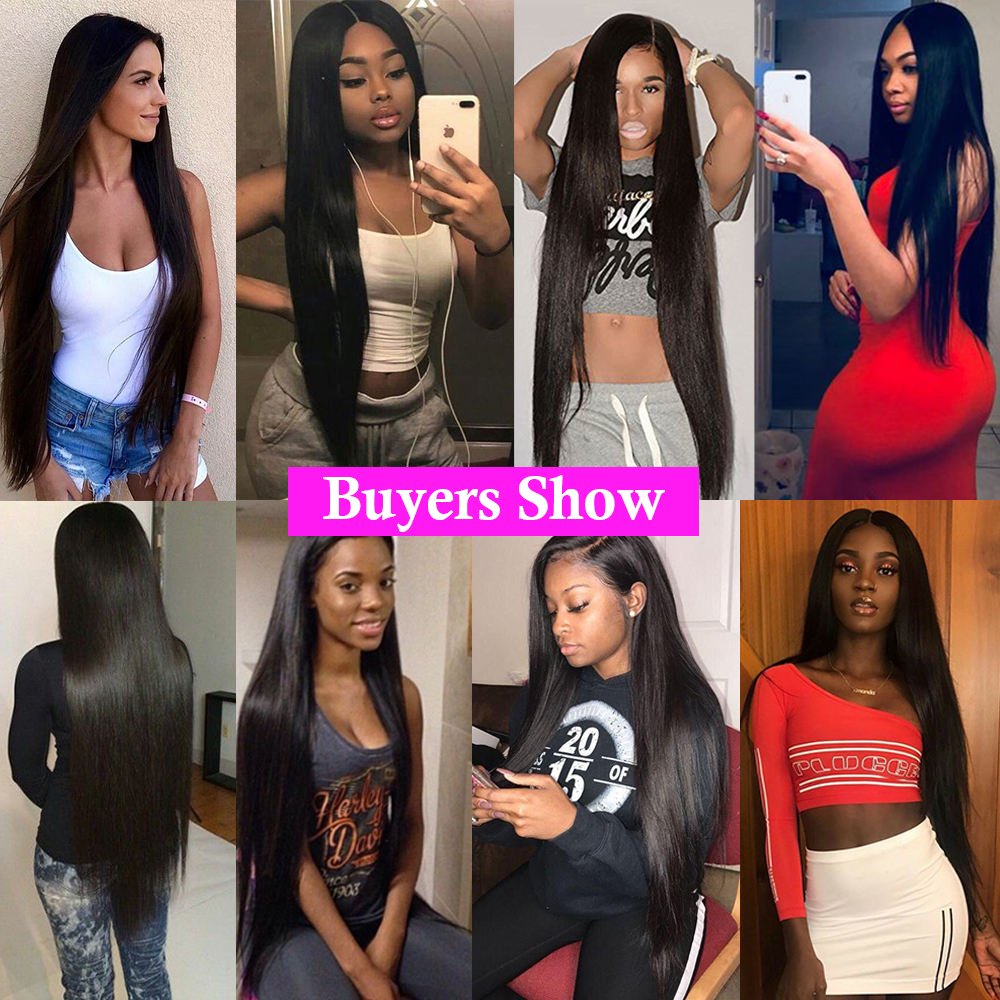 30 40 Inch Bone Straight  Lace Front Wig Short Bob Lace Frontal  Wigs   Virgin Hair 5