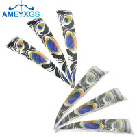 30/50pcs 4 Right Wings Natural Turkey Feather Double sided Fletches Fletching Arrow DIY Tools For Archery Hunting Accessories