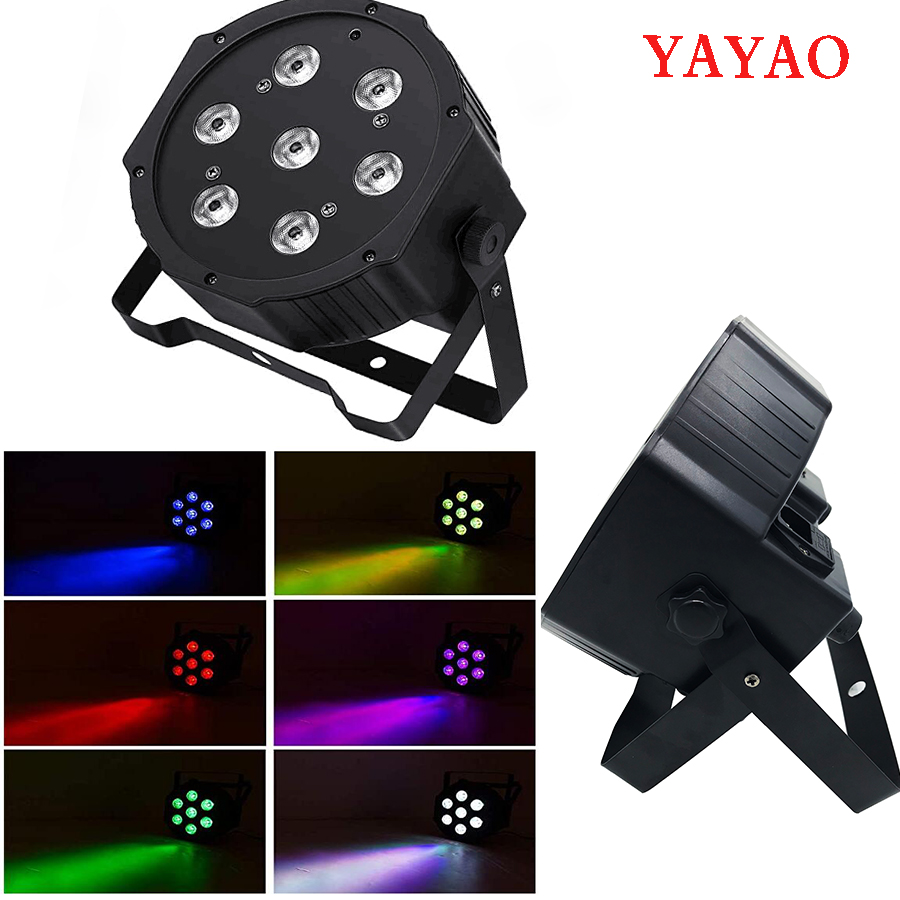YaYaO RGBWA + UV 6IN1 Professional Lighting , Suitable For Disco DJ Music KTV Party Club LED Par 7x12w Stage Effect