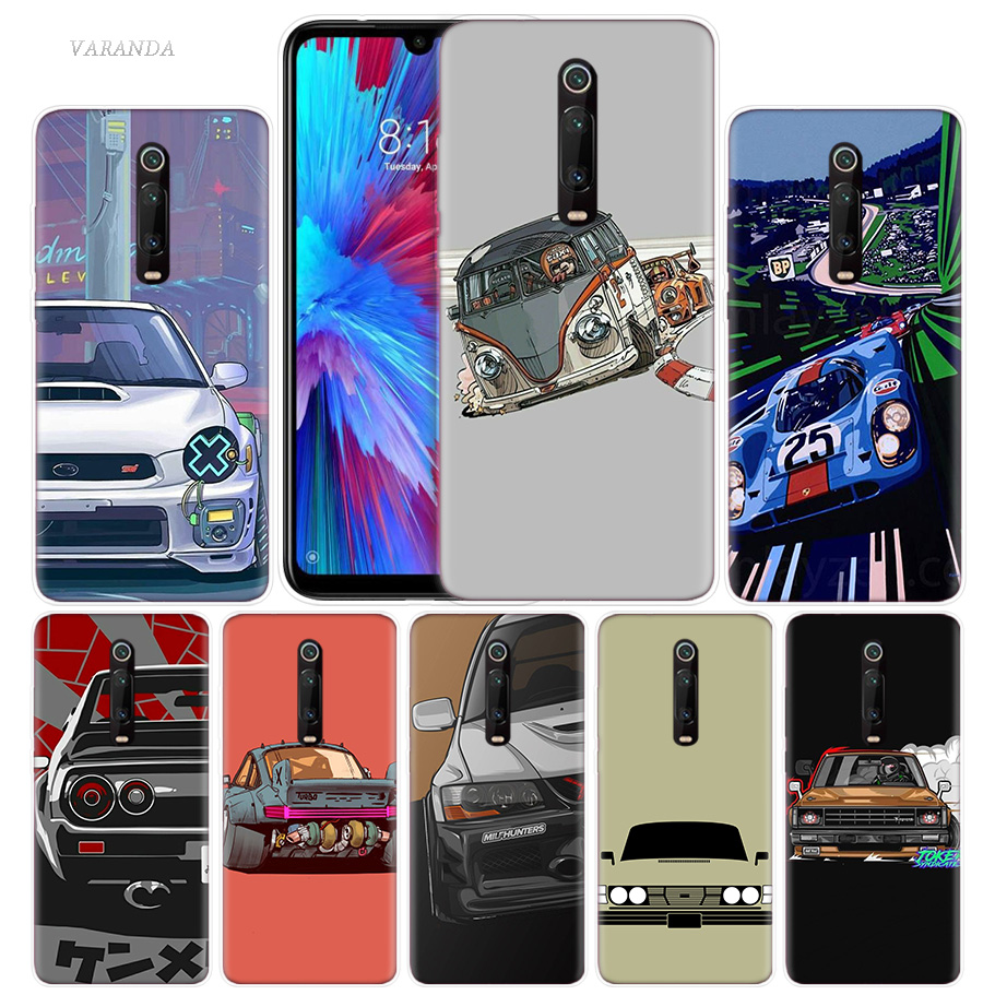 Vintage Super Car Cool Case For Xiaomi Redmi Note 8T 8 7 9S K20 K30 Pro 7A Mi CC9 10 9T 9 A3 Lite F2 X2 TPU Phone Coque Tampa