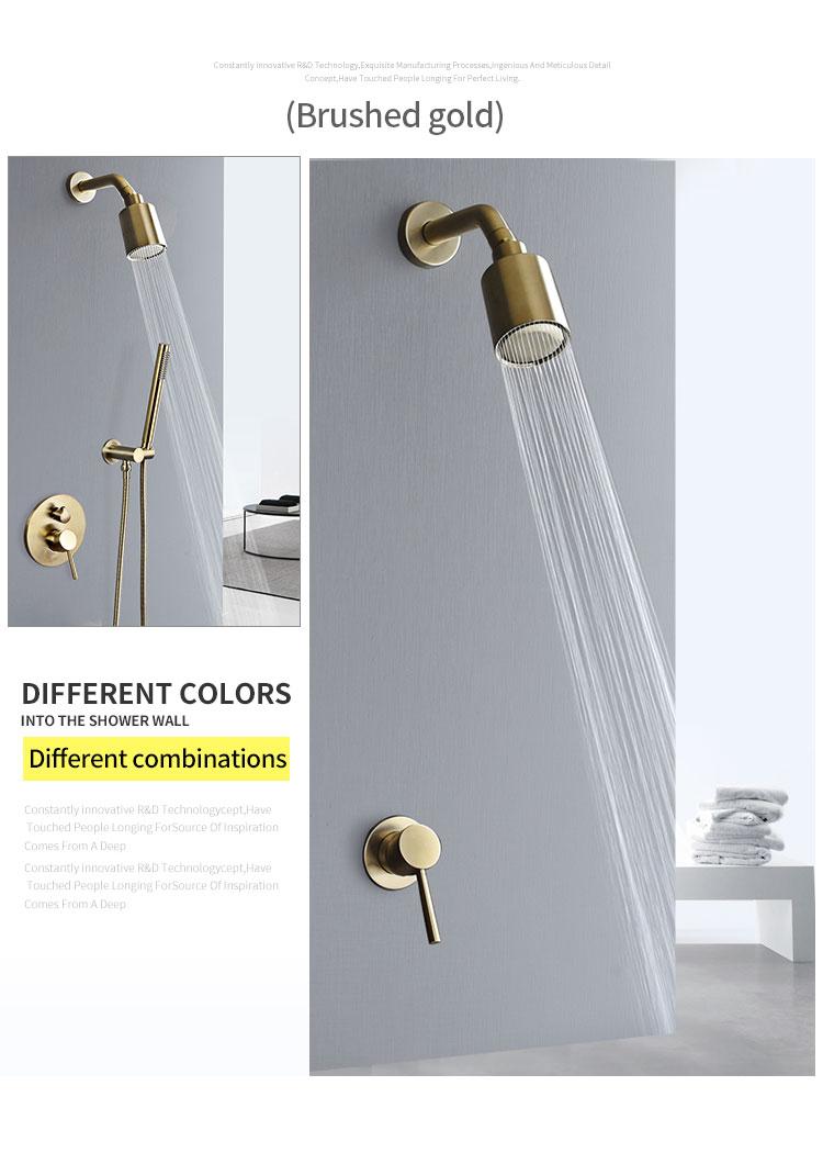 Hb887b659ebcb459ba0fd65d73b355837y Wall Mounted Bathroom Top Sprayer Brushed Gold Shower Faucet Set